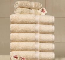 Crown Touch Towel - Beige