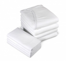 Knitted Fitted Sheets - white