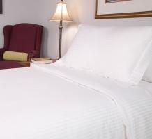 T250 White Stripe Elegance Sheets