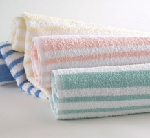 Tropical Stripe Pool Towel