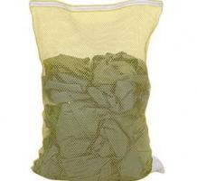 Mesh Laundry Bags w Nylon Zipper Closure