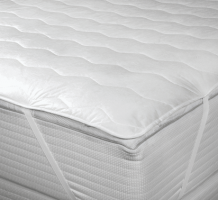 Quilted Mattress Pad with Anchor Bands